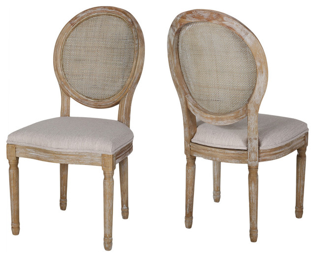 Camilo Wooden Dining Chair With Seating, Set of 2