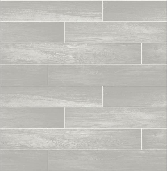 Nika Grey Sleek Wood Wallpaper Contemporary Wallpaper By