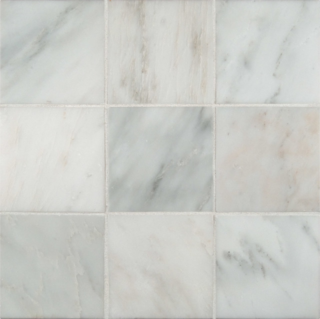 Honed Arabeo Carrara Marble Tile Sample