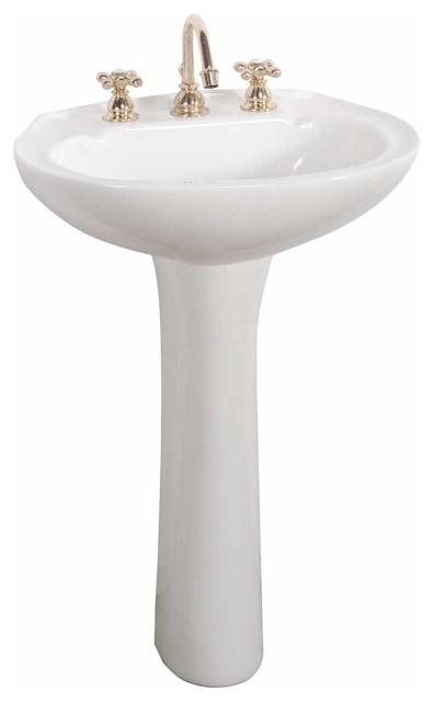 Narrow Pedestal Sink : Shop Houzz Renovators Supply Classic Narrow Pedestal Sink White 8 ...