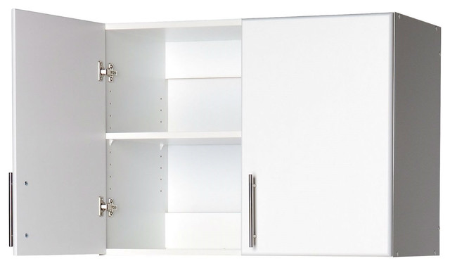 White Wall Cabinet With 2-Doors And Adjustable Shelf.