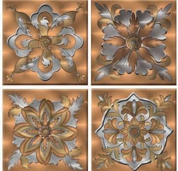 Perfect Corinthian Peel And Stick Tiles, 4 Piece Set Midcentury Tile