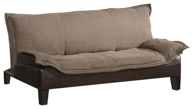 Coaster fine furniture brown microfiber ratchet back for Sofa bed base