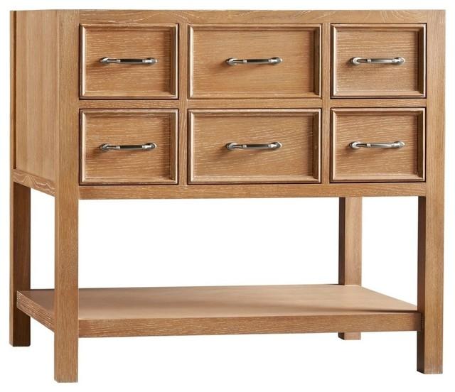 "Ronbow Newcastle Solid Wood Vanity Cabinet Base, Vintage Honey, 36"" - Farmhouse - Bathroom ..."