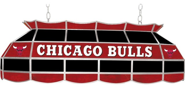 Chicago Bulls NBA Inch Billiard Lamp Contemporary Pool Table - 40 inch pool table