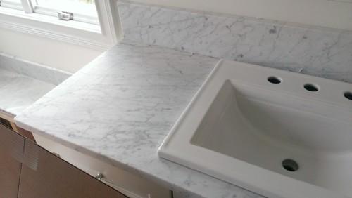 Carrara Marble Bathroom Countertop O2 Pilates