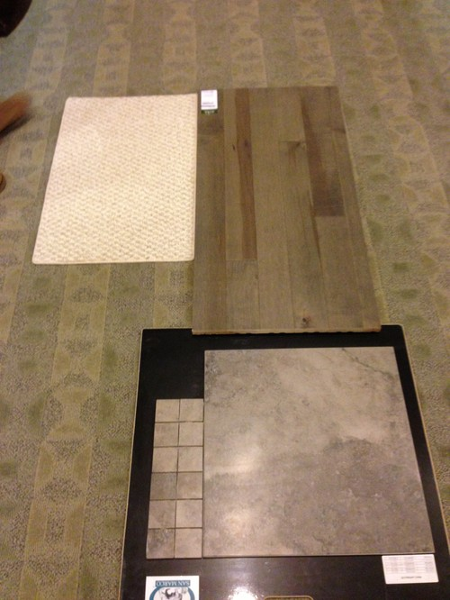 Matching grey hardwood floors?? Paint ?? Tiles?