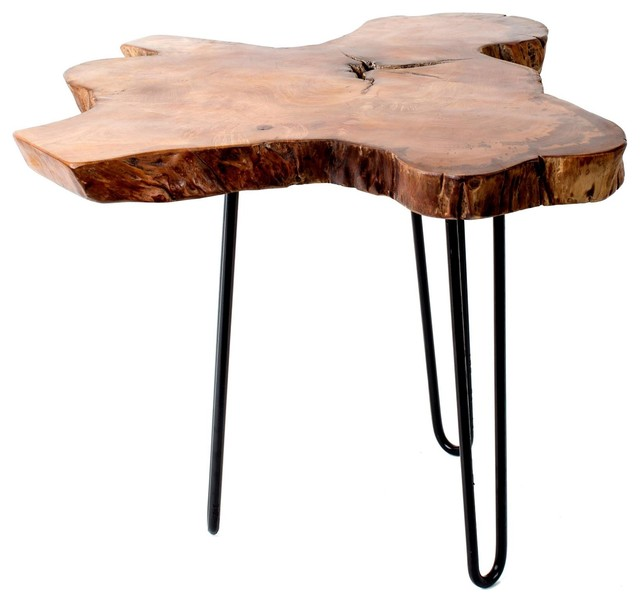 """Teak Root End Table: Teak Root Accent Table, 18""""x18"""""""