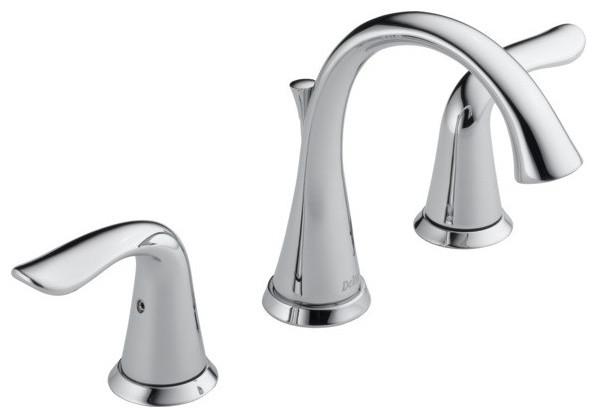 Delta lahara widespread bathroom faucet 3538 mpu dst - Delta contemporary bathroom faucets ...