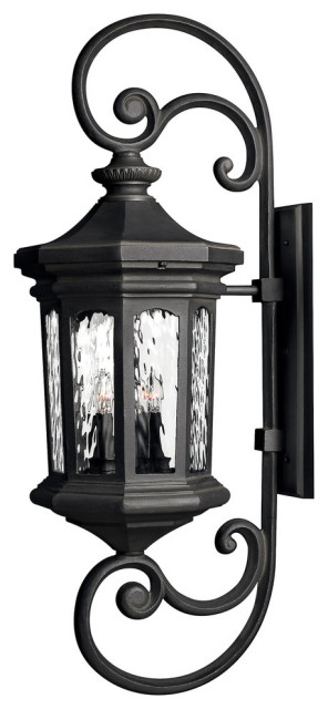 Hinkley Raley Outdoor Extra Large Wall, Large Black Outdoor Wall Lighting