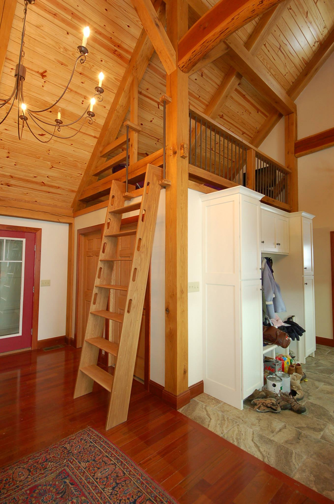 Timber Frame Home Addition on Creek Road