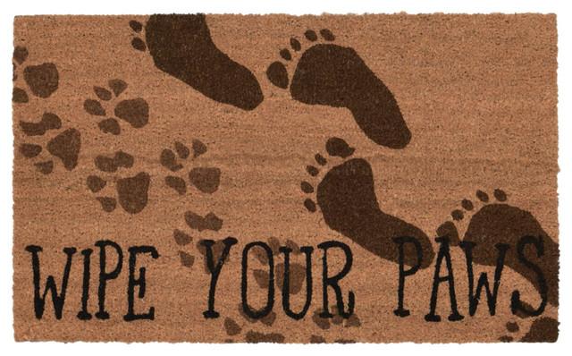 Liora Manne Natura Wipe Your Paws Door Mat 16x26 Contemporary