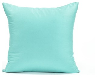 Silver Fern Decor - Solid Tiffany Blue Accent, Throw Pillow Cover - View in Your Room! Houzz