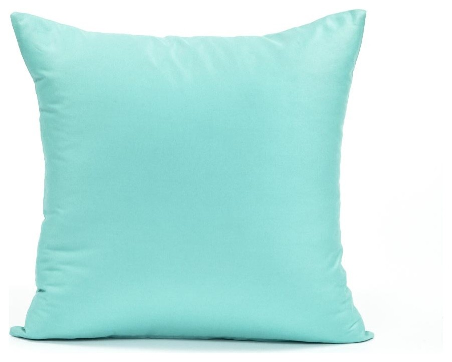 Powder Blue Accent Throw Pillow Cover