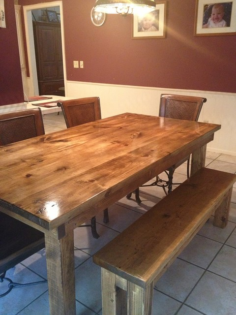 James 6 Farmhouse Table In Vintage Early American Stain Transitional