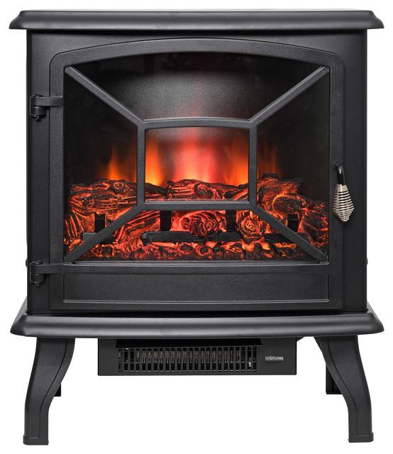 Akdy 20 Black Freestanding Electric Fireplace 3d Flames Firebox