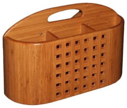 Utensil Holder For Dish Racks, Bamboo.
