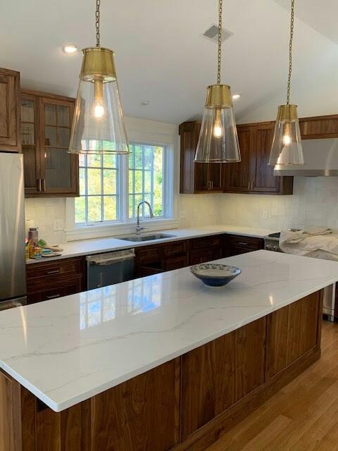 Marshfield MA Great Room and Kitchen