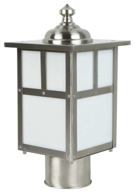 Craftmade Z1845-56 Mission Outdoor Post Light, Stainless Steel.