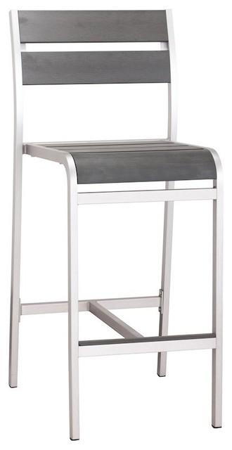 Surprising Zuo Modern Megapolis 703186 Bar Armless Chairs Brushed Aluminum Set Of 2 Creativecarmelina Interior Chair Design Creativecarmelinacom