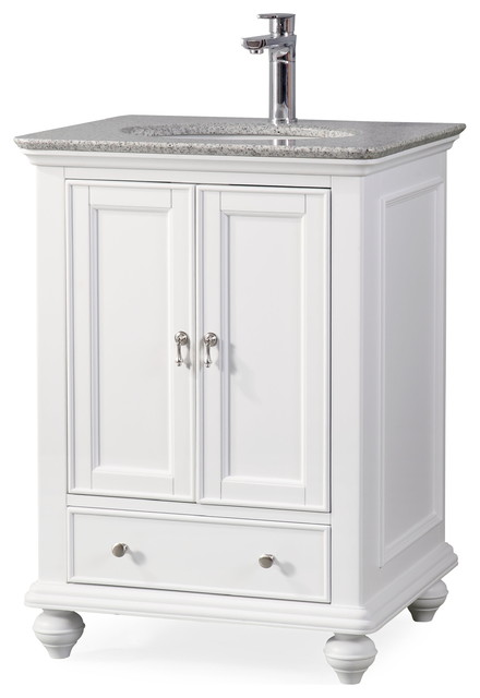 25 Gillian Narrow Small Bath Vanity White Traditional Bathroom Vanities And Sink Consoles By Chans Furniture