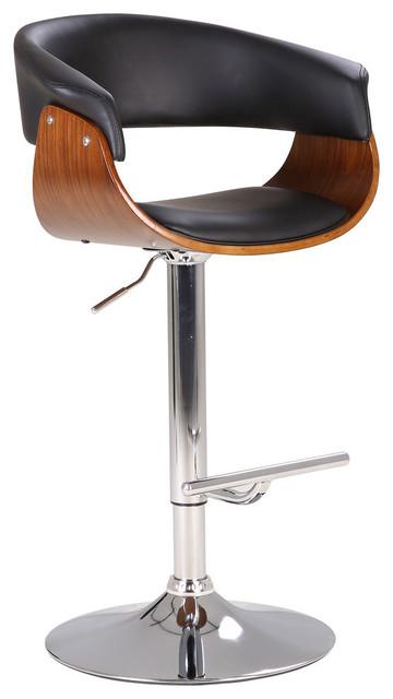 Fantastic Black Modern Swivel Adjustable Wood Barstool With Armrests Pdpeps Interior Chair Design Pdpepsorg