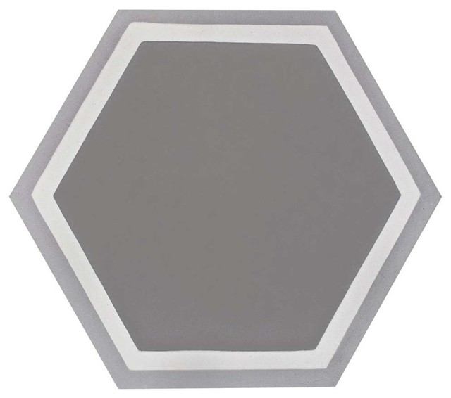 "7.88""x9"" Cement Hex Cement Floor And Wall Tile, Holland Strait."