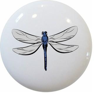Carolina Hardware and Decor, LLC Dragonfly Ceramic Cabinet Drawer Knob - Cabinet And Drawer ...