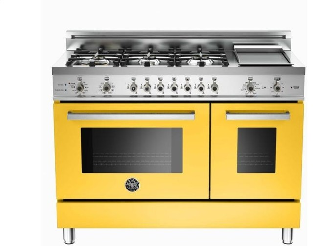 6burner and griddle electric double oven yellow - Gas Range Double Oven