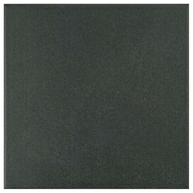 Thirties Ceramic Floor Wall Tiles Black Sample