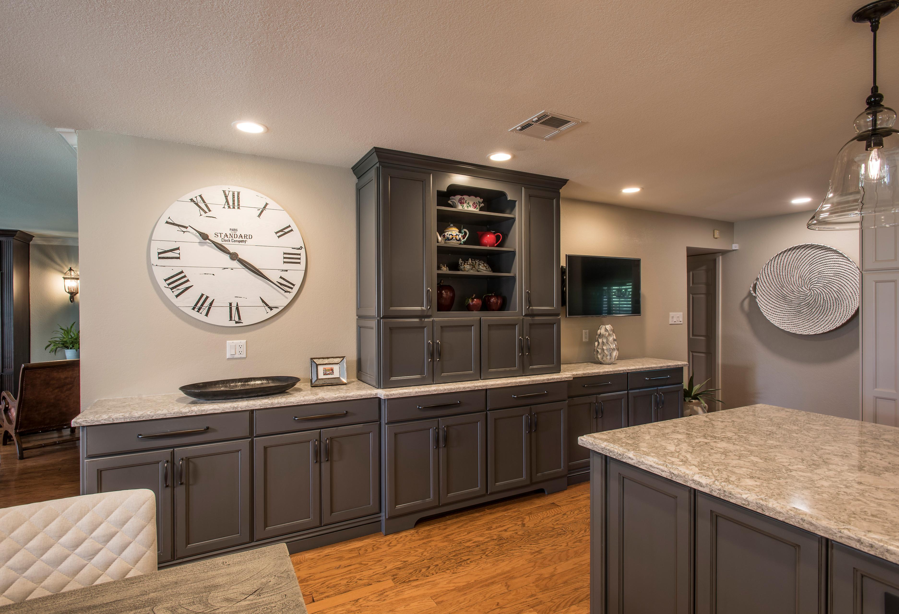 Transitional Gray Kitchen
