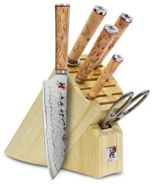 zwilling ja henckels miyabi birchwood sg2 7piece knife block set