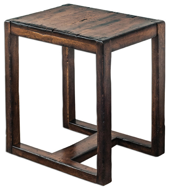 uttermost deni occasional table wood