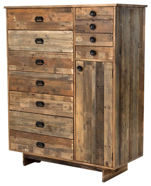 Armoire Dresser: Angora Reclaimed Wood Tall Armoire Chest