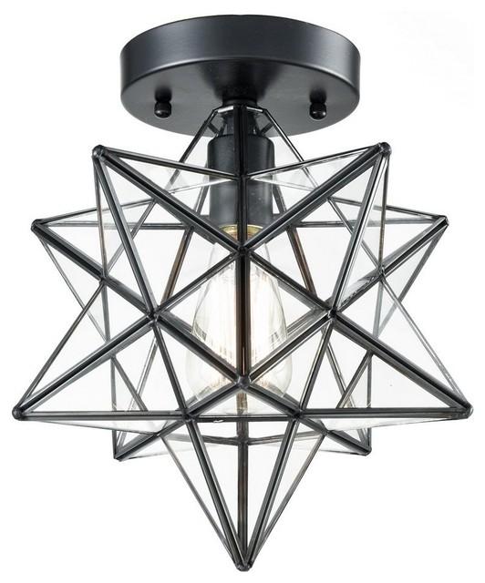 Clara Moravian Star Ceiling Light Black Copper