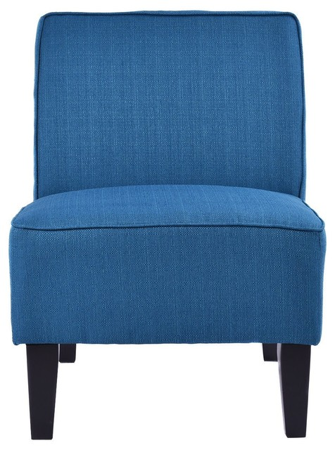 Astonishing Contemporary Decor Solid Armless Accent Chair Blue Ocoug Best Dining Table And Chair Ideas Images Ocougorg