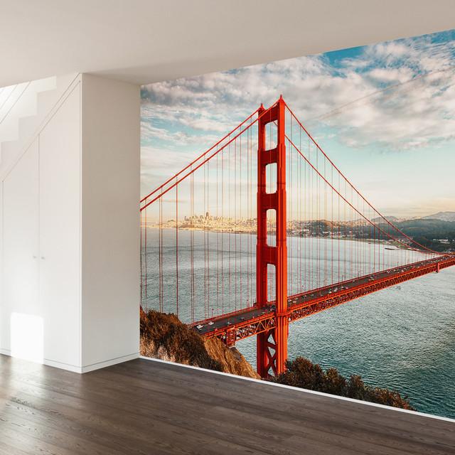 Golden Gate Bridge Wall Mural Decal, 4 Panel