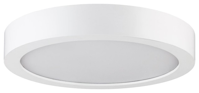 "Sunlite Led 7"" Round Surface Mount Ceiling Light, 14w 3000k Warm White."