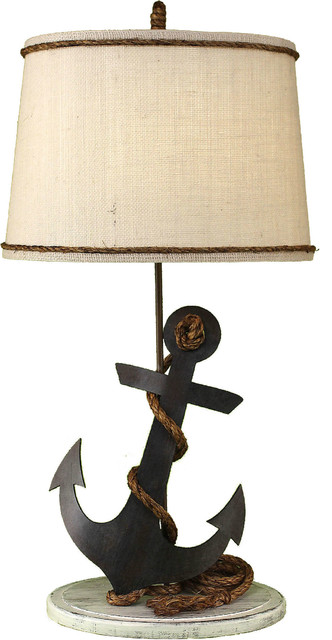 Anchor Table Lamp With Rope Beach Style Table Lamps