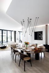 Avant/Après : Fluidité en noir et blanc dans 140 m2 à Paris