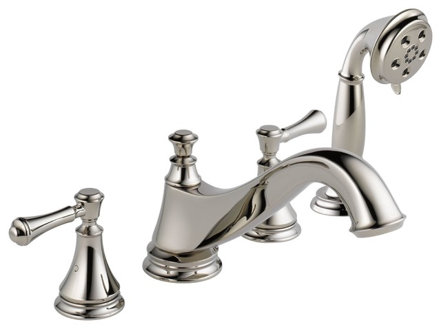 Delta Cassidy Polished Nickel Roman Tub Faucet Hand