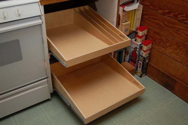 Sliding Shelves For. Kitchen Love The Sliding Shelves For Stove ...