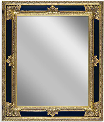 Hanging Wall Frame Baroque Styled Artisan Hand Carved Mirror Black And Gold 24 Traditional Wall Mirrors By Netmart