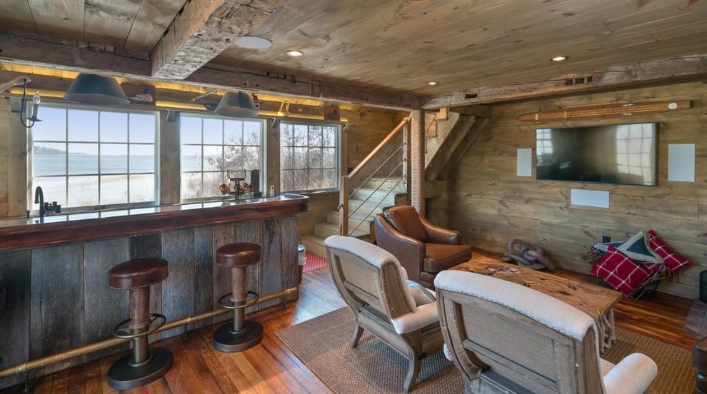 Transitional home design photo in Boston
