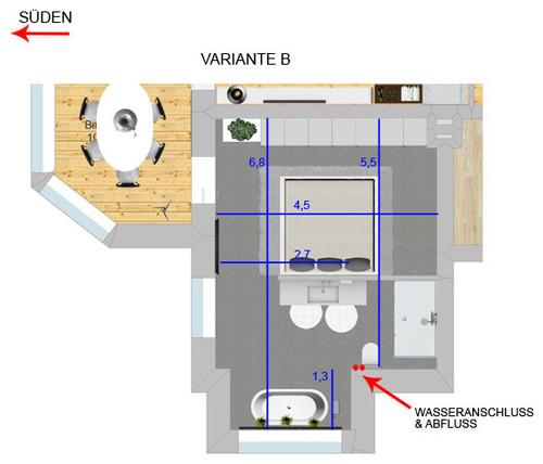 altbaujuwel bett bad in einem raum cleverer grundriss gesucht. Black Bedroom Furniture Sets. Home Design Ideas