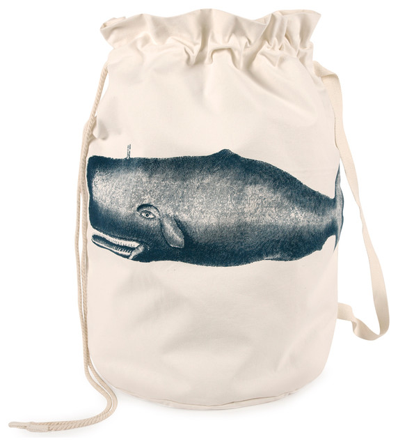 "Moby Canvas Laundry Bag 25""x26""."