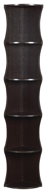 Coaster Corner Shelf In Cappuccino Finish 801182.