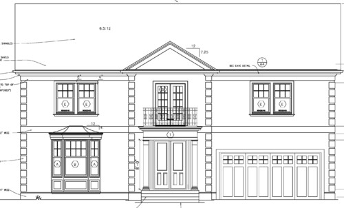 Front Elevation With Bay Window : Please help pick an elevation
