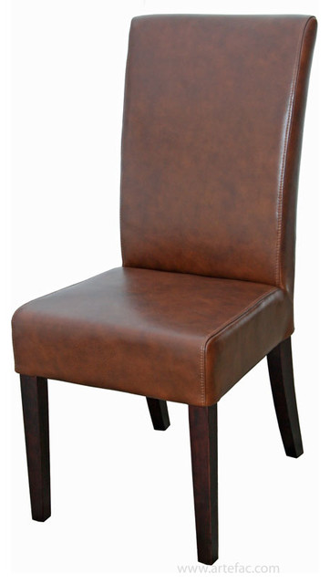 top grain leather dining chair - transitional - dining chairs -