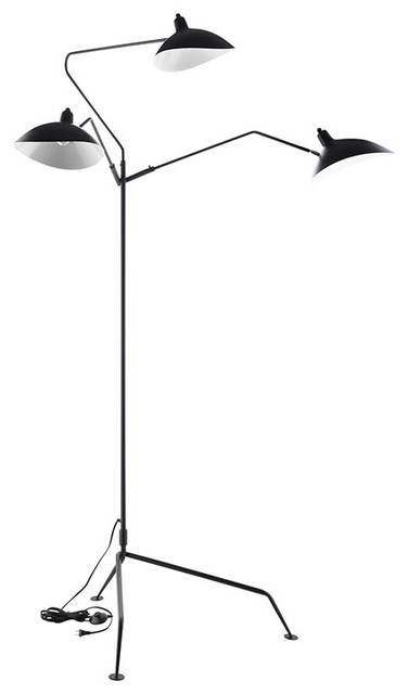 View Stainless Steel Floor Lamp, Black.